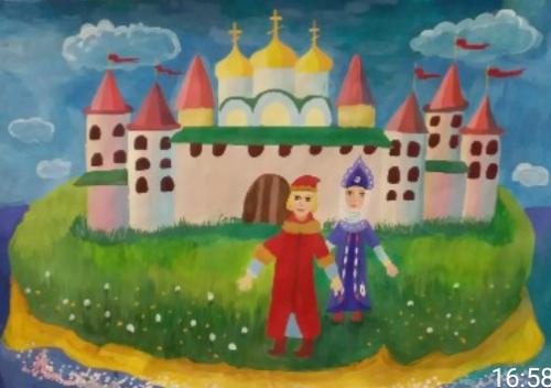 Мать и сын идут ко граду, Ефросинина Анастасия, 8 лет