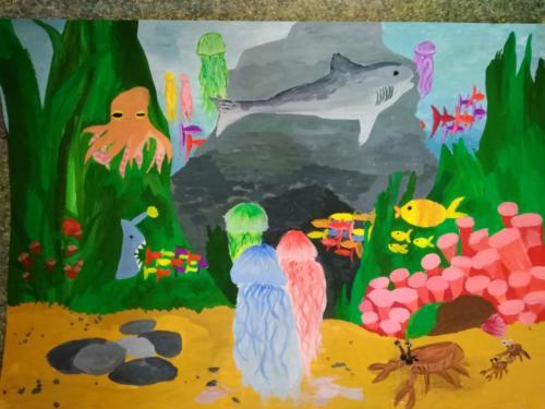 Подводный мир Лашкова София 9 лет